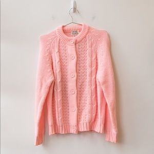 1970's Miss Holly Baby Pink Cardigan